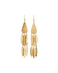 Panacea Etched Golden Multi Drop Earrings