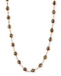 Kendra Scott Ansonia Bead And Chain Necklace Rose Gold