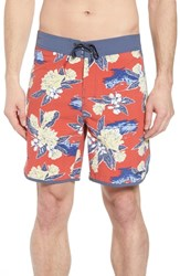 Patagonia Wavefarer Swim Trunks Cleanest Line Static Red