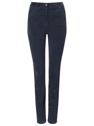 East Corduroy Straight Leg Trousers Navy