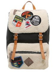 Invicta My Jolly Leather Backpack W Patches