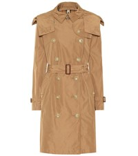 Burberry Hooded Trench Coat Beige