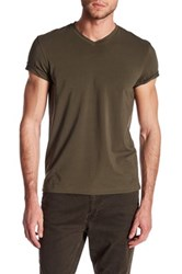 Kenneth Cole V Neck Tee Green