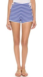 Clover Canyon Striped Shorts Blue White
