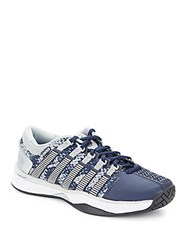 K Swiss Textured Lace Up Sneakers Navy Silver