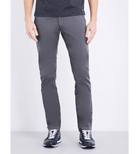 Hugo Boss Tapered Stretch Cotton Chinos Medium Grey