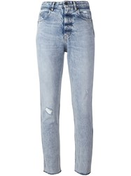 Golden Goose Deluxe Brand Cropped Jeans Blue