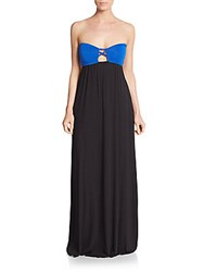 L Space Jaques Strapless Coverup Maxi Dress Black