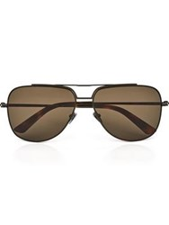 Calvin Klein Collection Metal Aviator Men's Sunglasses Tortoiseshell