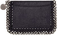 Stella Mccartney Navy Falabella Shaggy Deer Card Holder