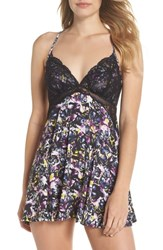 Black Bow Monie Racerback Chemise Butterflies In Paradise