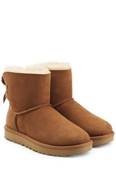 Ugg Australia Mini Bailey Bow Suede Boots Brown