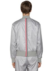 Thom Browne Nylon Ripstop Bomber Jacket Light Grey