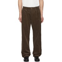Blue Blue Japan Brown Corduroy One Tuck Baggy Trousers
