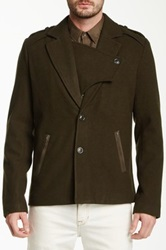 Joe's Jeans Commodore Wool Blend Coat Green