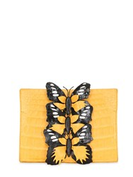 Nancy Gonzalez Crocodile Bag W Butterfly Appliques