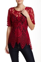 Tart Nicole Sheer Lace Blouse Red