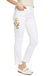 Jen7 'S Embroidered Ankle Skinny Jeans White M