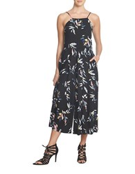1.State Spaghetti Strap Pleated Front Jumpsuit Black