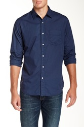Relwen Garment Dyed Poplin Shirt Blue