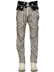 Faith Connexion Stripe And Stars Printed Silk Satin Pants