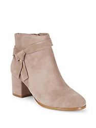 Saks Fifth Avenue Designed Leather Boots Dark Taupe