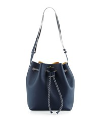 Elaine Turner Designs Elaine Turner The Reserve Saffiano Bucket Bag Navy