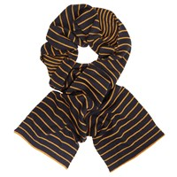John Lewis Kin By Bright Stripe Scarf Navy