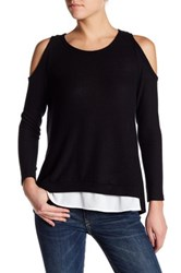 Pleione Cold Shoulder Tee Black