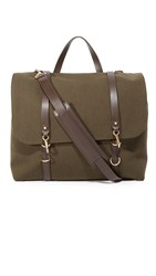 Mismo M S Satchel Pine Green Dark Brown