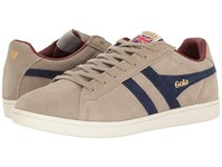 Gola Equipe Suede Stone Navy Burgundy Men's Shoes Beige