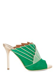 Malone Souliers Donna Emerald Suede Rose Gold Metallic Nappa Green