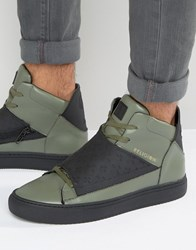 Religion Relm Hi Top Trainers Green