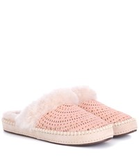 Ugg Aira Sunshine Suede Slippers Pink