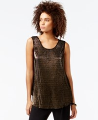 Rachel Rachel Roy Sleeveless Metallic Top