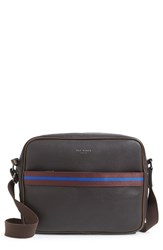 Men's Ted Baker London 'Sprinty' Messenger Bag Brown Chocolate