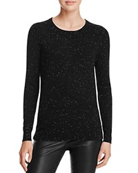 Bloomingdale's C By Crewneck Cashmere Sweater Black Donegal
