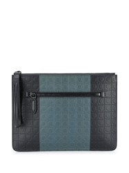 Salvatore Ferragamo Gancini Document Holder Black