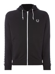 Fred Perry Men's Taped Hooded Track Jacket Black