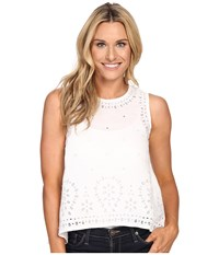 Tommy Bahama Peaceful Leaves Tank Top White Women's Sleeveless