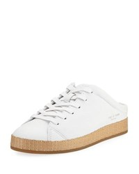 Rag And Bone Rb1 Leather Slide Sneaker Mule White
