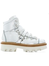 Moncler Grenoble Chunky Boots Metallic