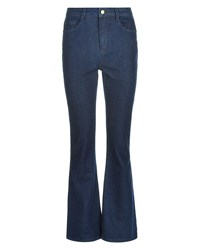 Jaeger High Rise Kick Flare Jeans Blue