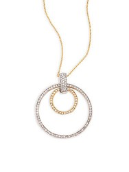 Effy Diamond 14K Gold 14K White Gold And 14K Yellow Gold Necklace