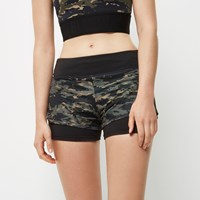River Island Womens Ri Active Camo Gym Shorts