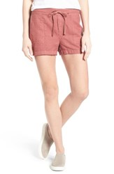 Caslonr Women's Caslon Drawstring Linen Shorts Red Jelly