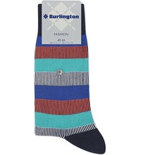 Burlington Striped Cotton Blend Socks Navy