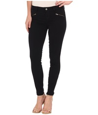 Level 99 Riley Skinny Moto W Ankle Zippers In Ink00 Ink00 Women's Jeans Black