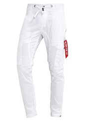 Alpha Industries Fuel Cargo Trousers White