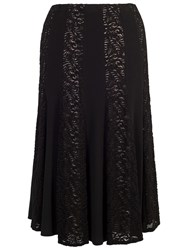 Chesca Lace And Jersey Panel Skirt Black